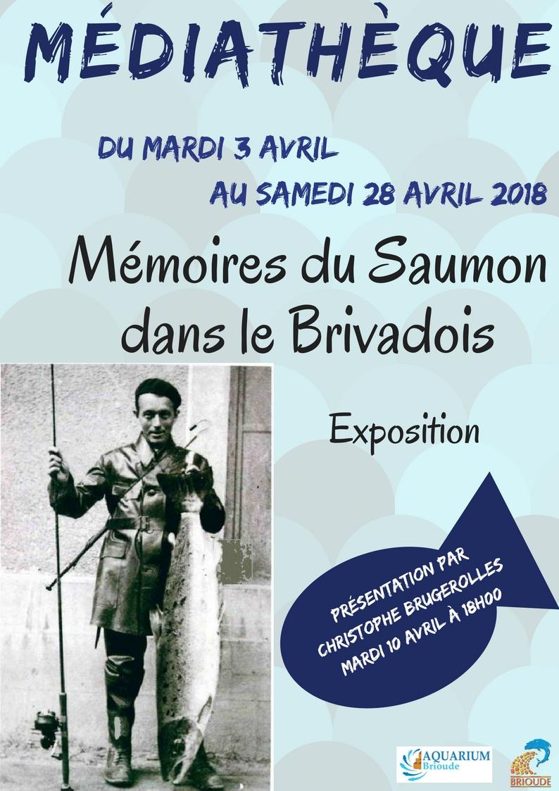 """EXPOSITION """"LA MÉMOIRE DU SAUMON DANS LE BRIVADOIS"""""""
