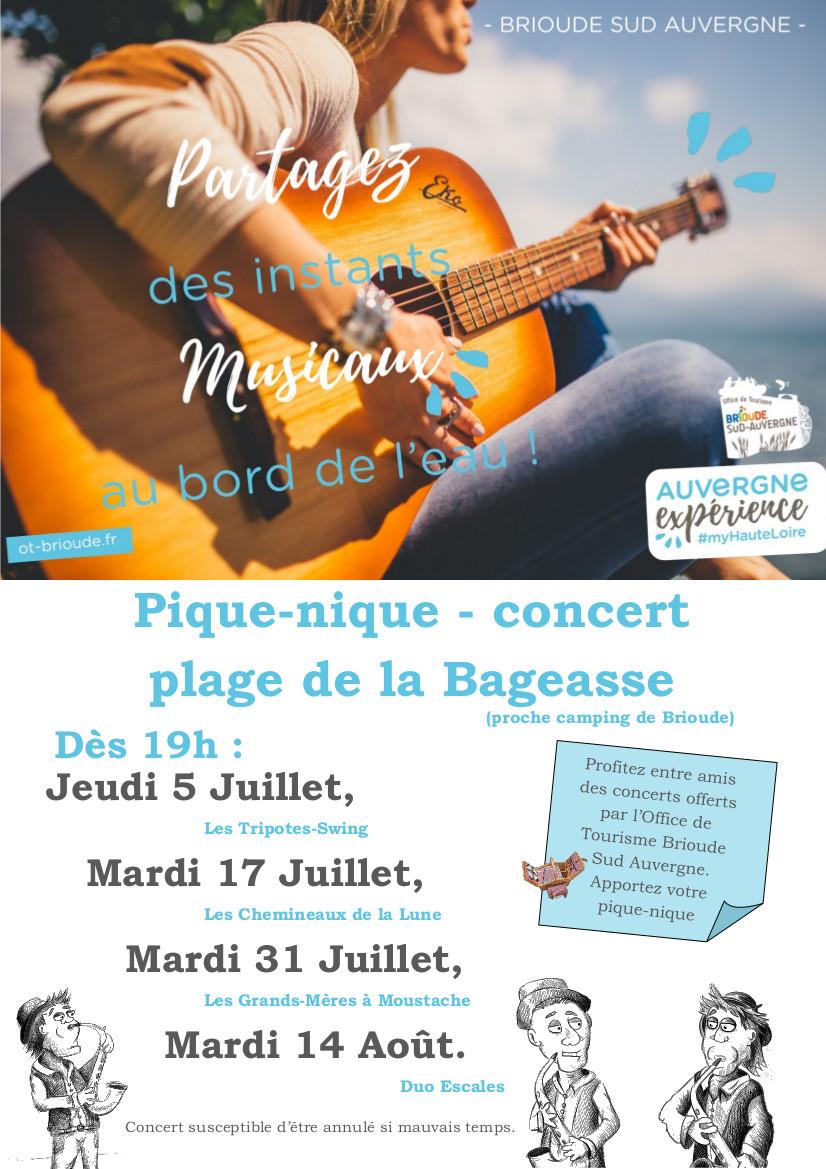 PARTAGEZ DES INSTANTS MUSICAUX AU BORD DE L'EAU !