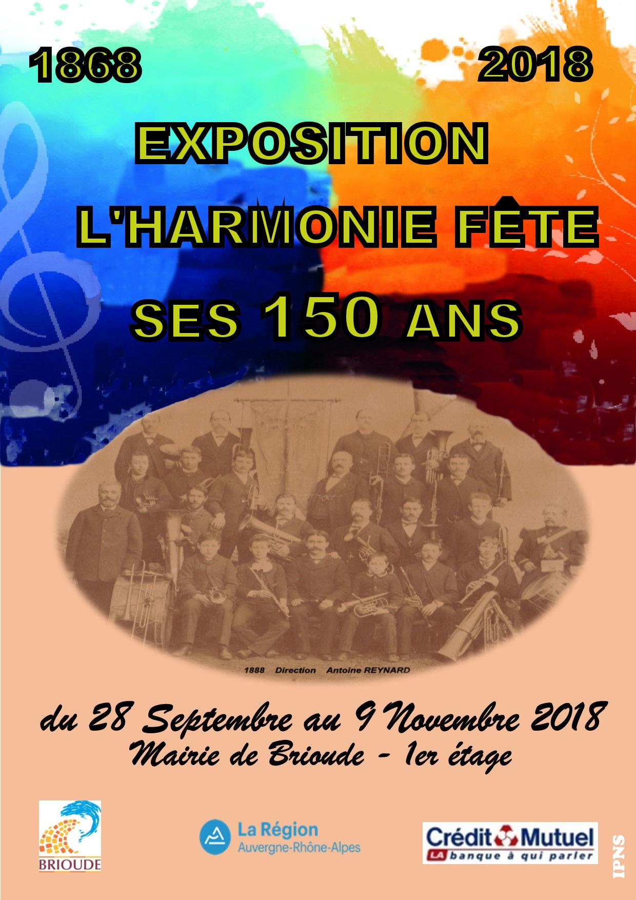 EXPOSITION  : L'HARMONIE FÊTE SES 150 ANS