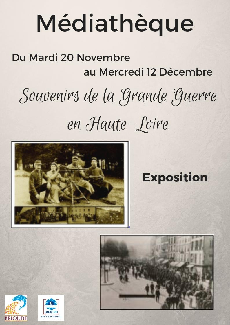 Exposition - Souvenirs de la Grande Guerre en Haute-Loire