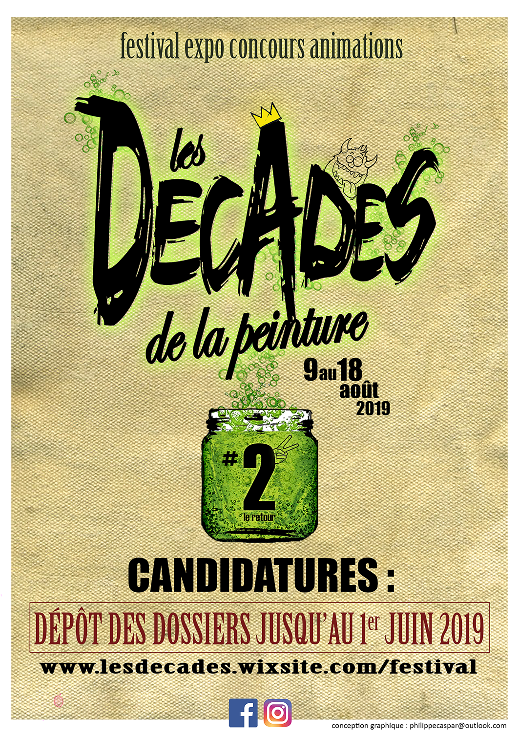 APPEL A CANDIDATURES - DECADES DE LA PEINTURE