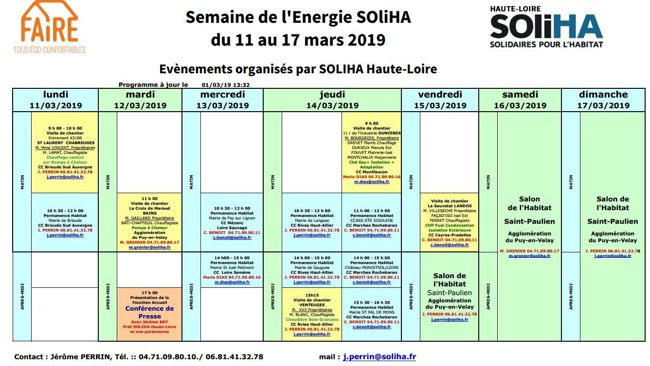 SEMAINE DE L'ENERGIE SOliHA